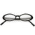 Women's Retro Dapper Small Oval Clear Lens Glasses C704