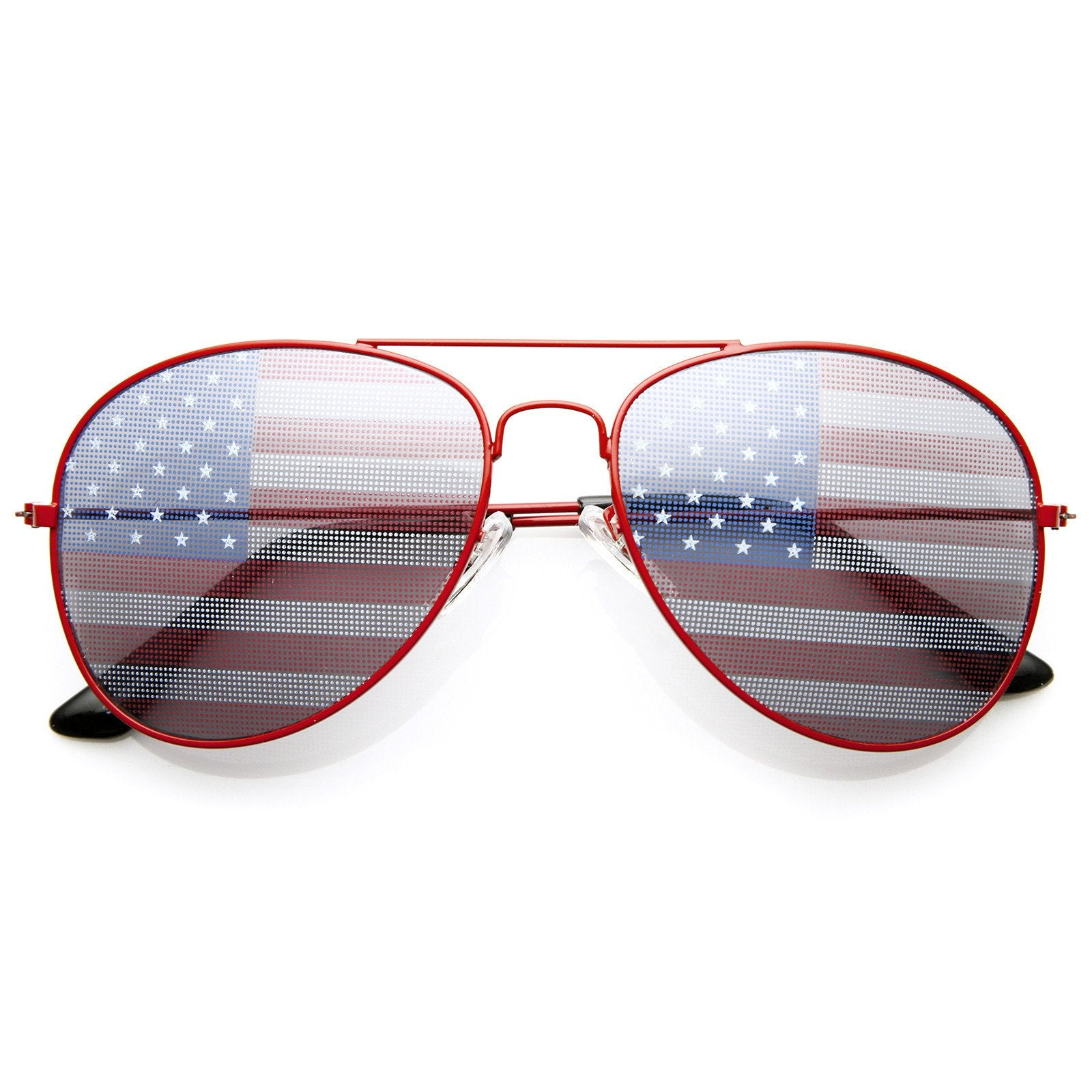 0bce3687edc Party Independence Day USA Flag Aviator Sunglasses - zeroUV