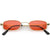 Retro 1990's Small Rectangle Color Tone Metal Sunglasses C708