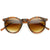 Dapper Key Hole Vintage Horned Rim Round Circle Indie Sunglasses 8943