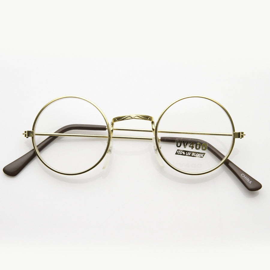 8248912938 Vintage Round Circle Clear Lens Spectacles Glasses 7011