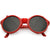 True Vintage Steampunk Side Cover Round Sunglasses C682
