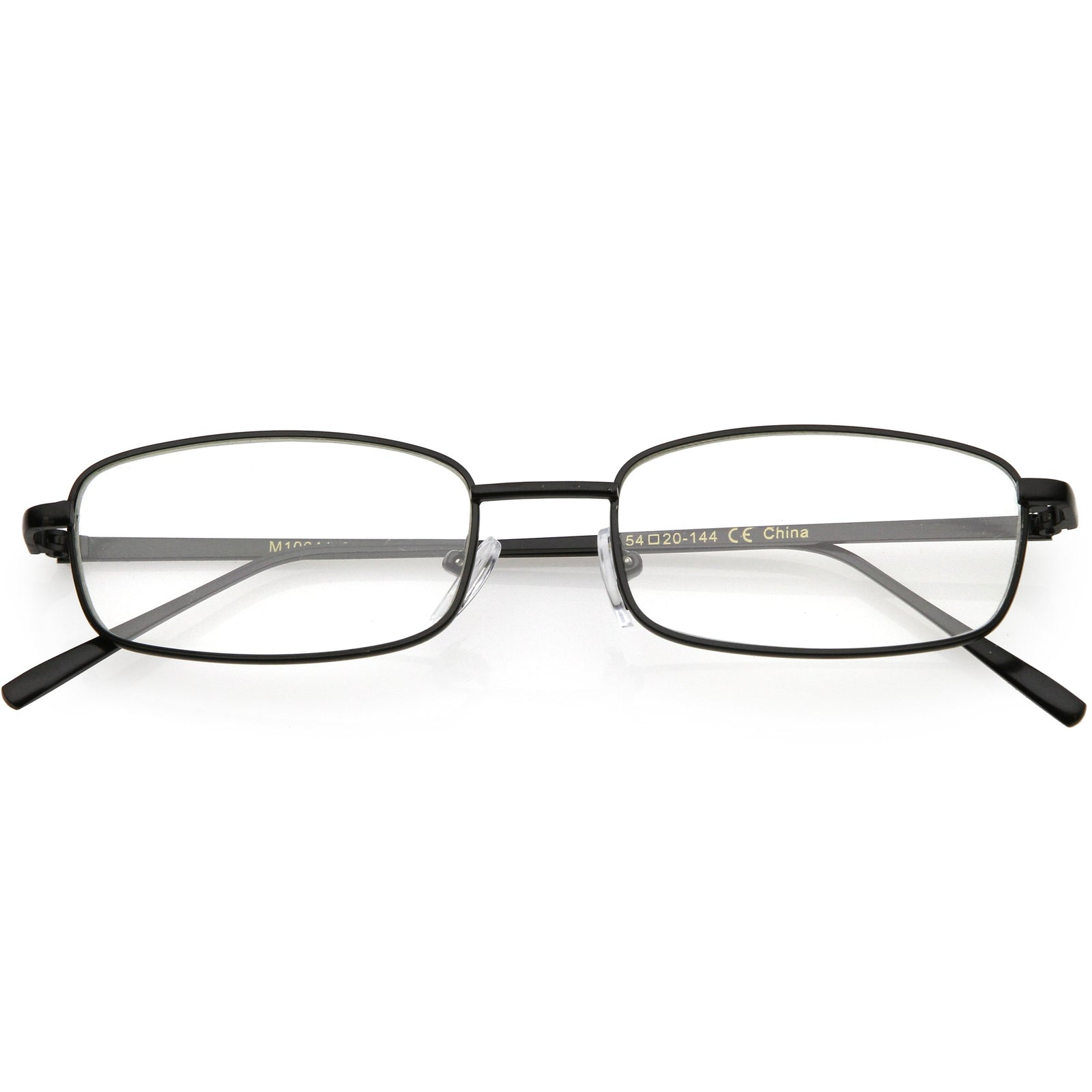 11d3677cd9f Classic Vintage Inspired Rectangle Flat Clear Lens Glasses C726