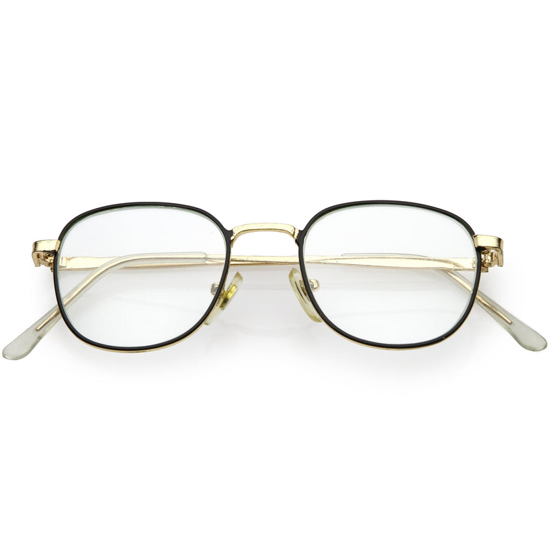 True Vintage Dapper Square Clear Lens Glasses C717