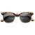 Vintage Half Frame Polarized Horned Rim Sunglasses 2936