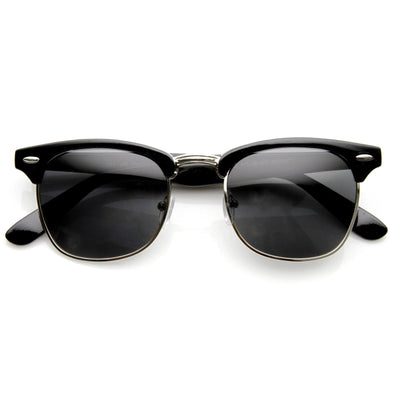 b03a0b47275 Vintage Half Frame Polarized Horned Rim Sunglasses 2936. Black Smoke