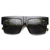 High Fashion Designer Inspired Metal Chain Arm Block Sunglasses 9126