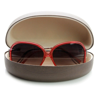 Eyewear Hard Shell Wood Print Sunglasses Snap Case 1016