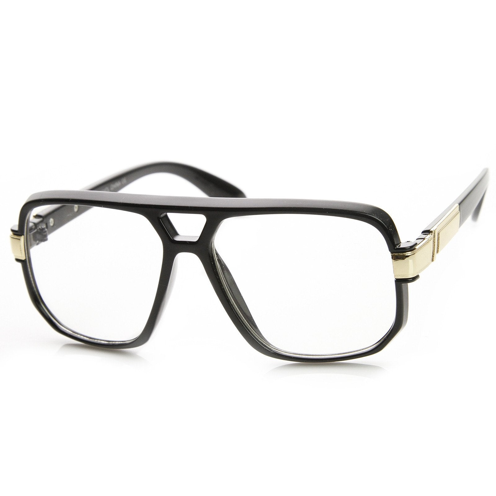 ff2d9547e0f Retro 1980's Classic Square Frame Hip Hop Clear Lens Glasses 8975