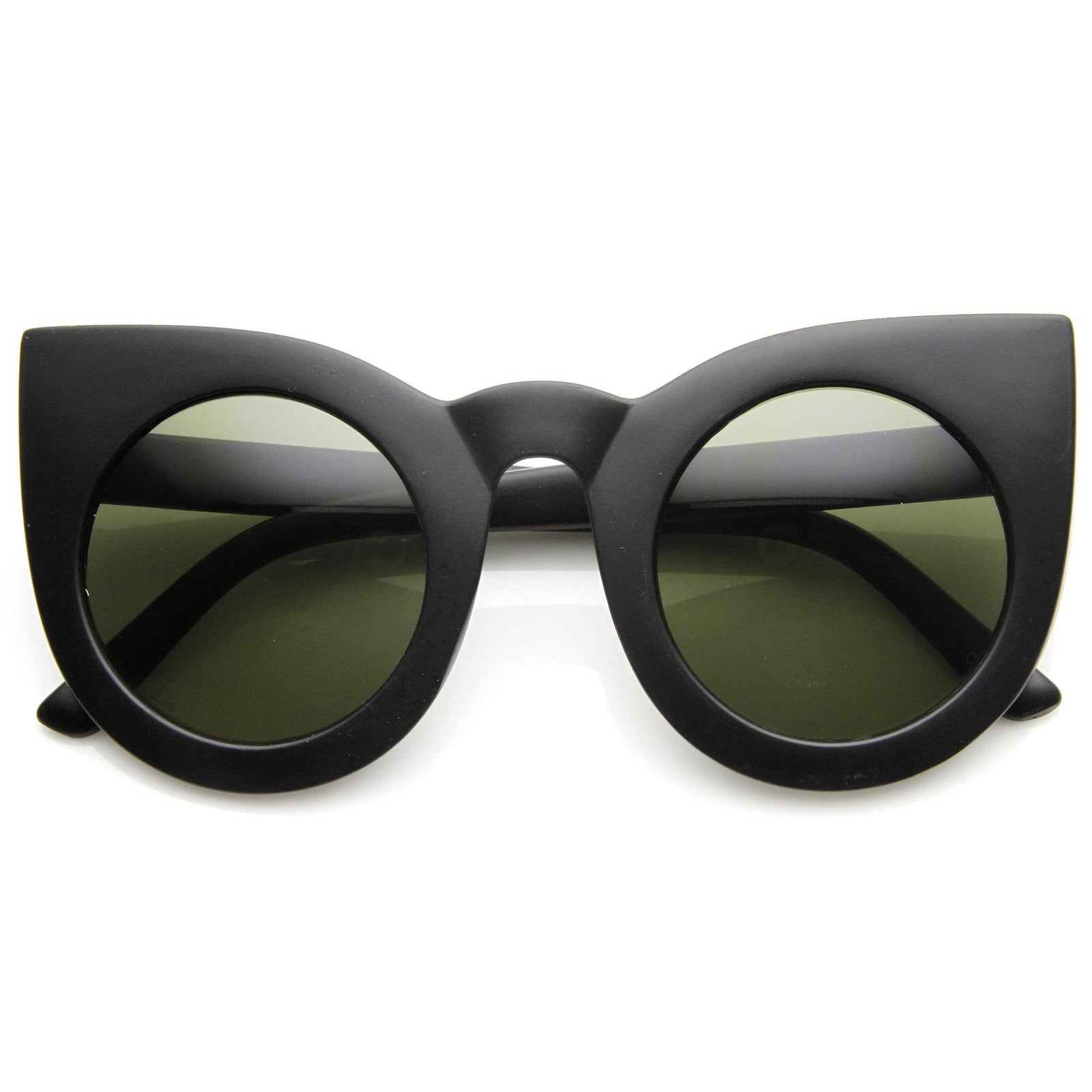 5d1be52874f Oversize Round Circle Pointed Cat Eye Sunglasses 9180