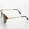 True Vintage Dapper Half Frame Sunglasses 7217
