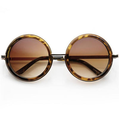 Vintage Inspired Steampunk Round Studio Cover Sunglasses 9629