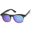 Retro Steampunk Clear Lens Mirrored Clip On Lens Sunglasses 8930