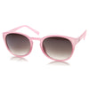 Womens Retro Colorful Pastel P3 Horned Rim Keyhole Sunglasses 9104