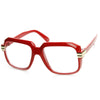 Retro Fun Colorful Party Square Clear Lens Hip Hop Glasses 8773