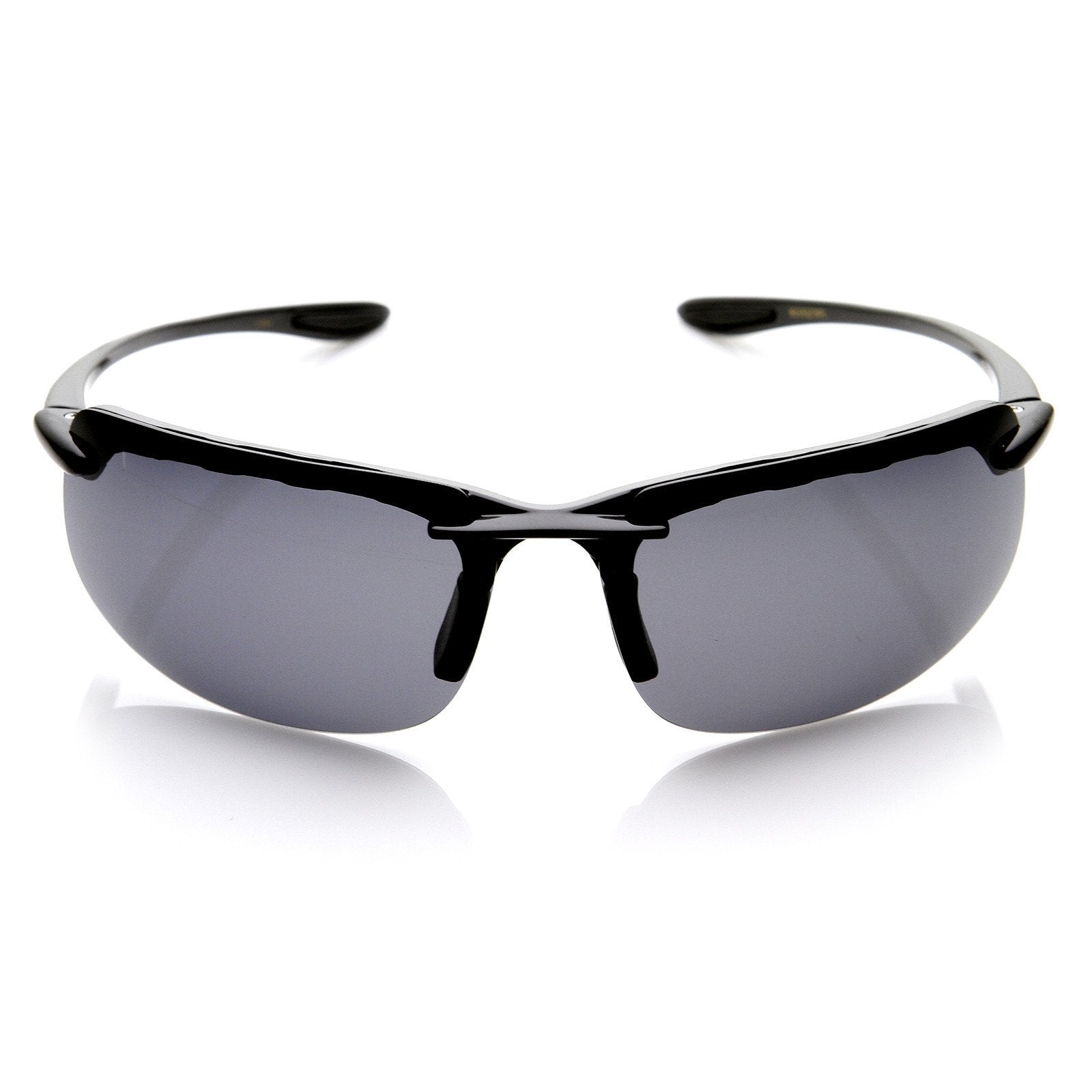be15e2406b6 Mens Lightweight Sports Polarized Lens Semi Rimless Sunglasses 8746