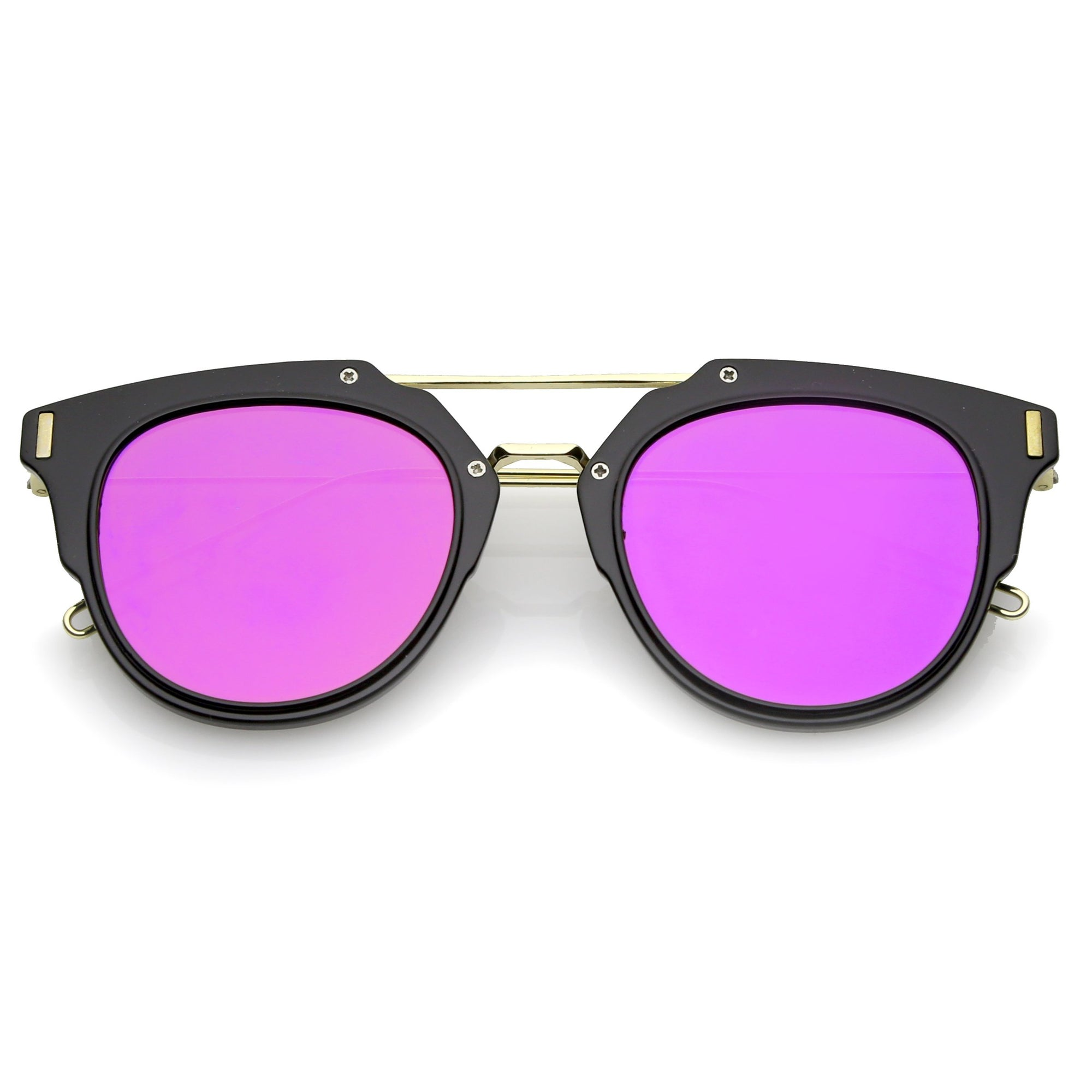 Black Gold Magenta Mirror