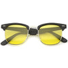 Indie Half Frame Horned Rim Polarized Lens Sunglasses 2936