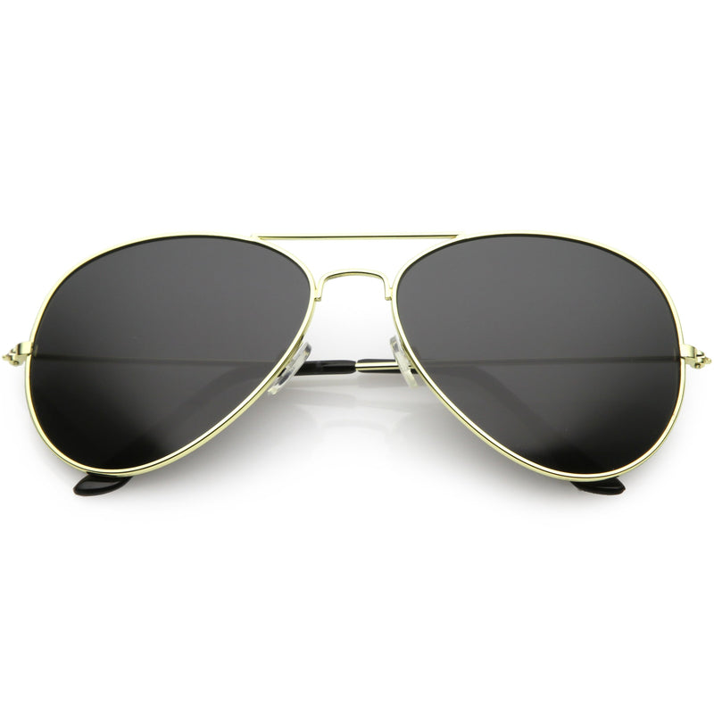 Retro Oversize Full Metal Aviator Sunglasses C761 60mm