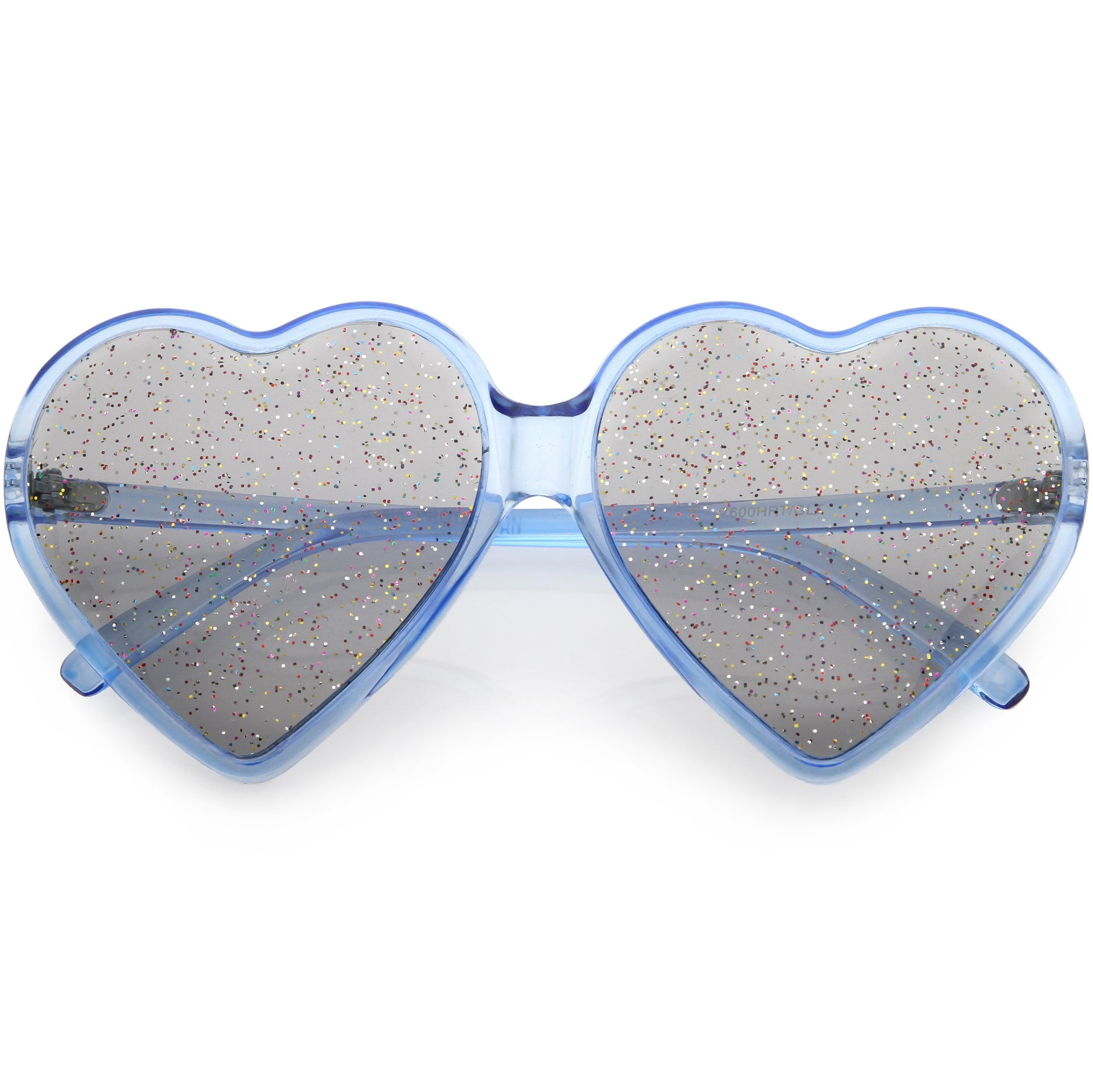 27d2f9451e6d ... Women's Oversize Novelty Heart Shape Glitter Lens Sunglasses C876 ·  Blue Smoke