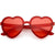 Women's Colorful Heart Shape Glitter Lens Novelty Sunglasses C879