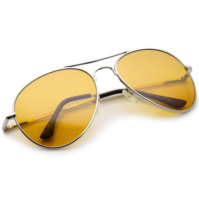 cc1d3abdcb Retro Metal Aviator Color Lens Aviator Sunglasses - zeroUV