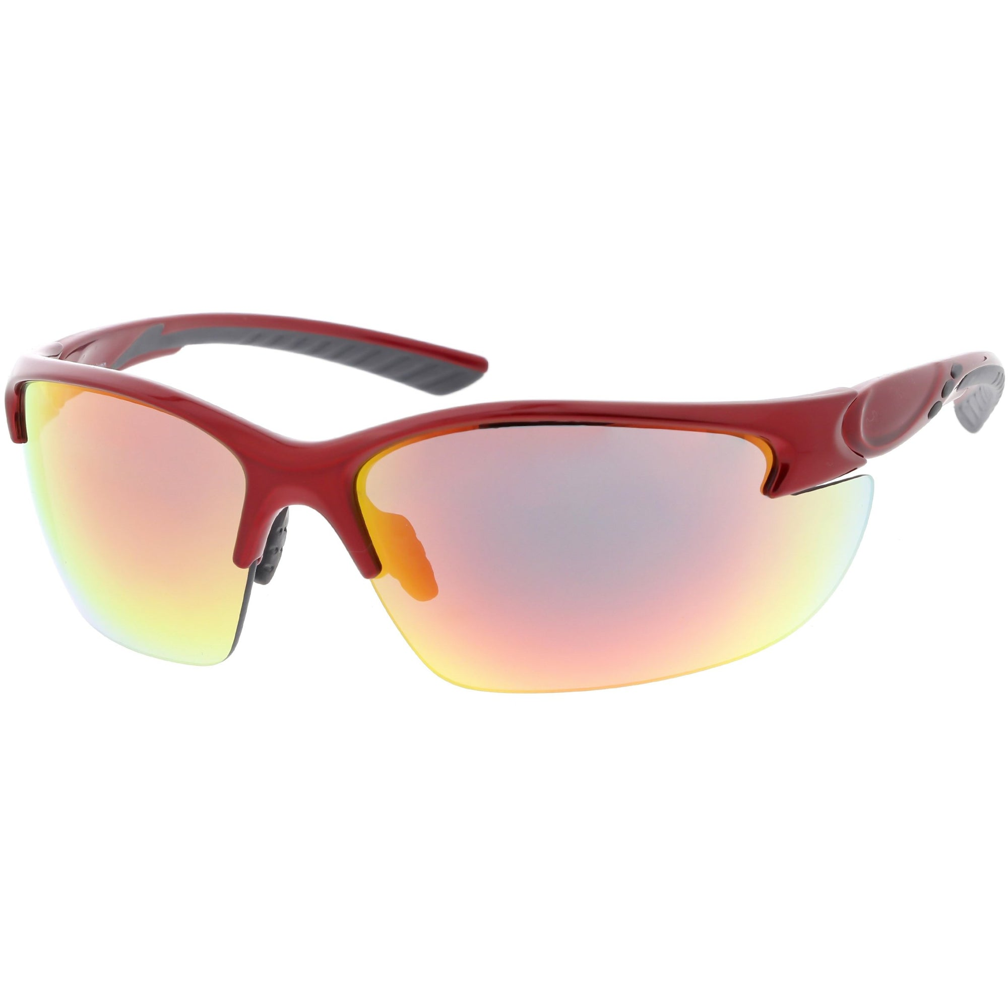 0448b490a07 ... Performance Competition Half Frame Wrap Around Sports Sunglasses C800 ·  Red Red Mirror · Red Red Mirror