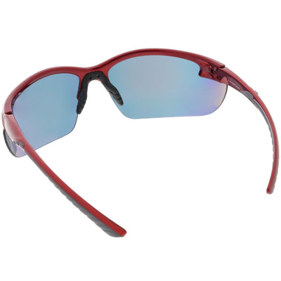 f2ad21054a2 Performance Competition Half Frame Wrap Around Sports Sunglasses ...