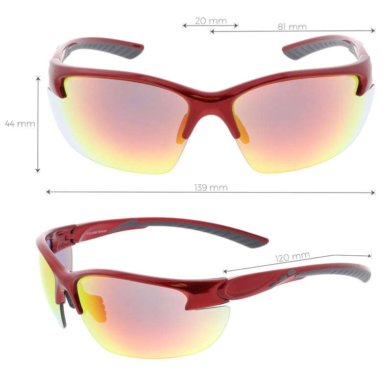 Performance Competition Half Frame Wrap Around Sports Sunglasses C800