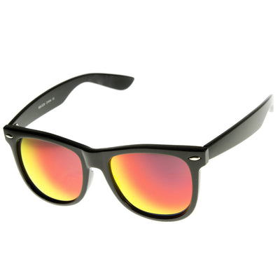 Hipster Trendy Colorful Flash Mirror Lens Horned Rim Sunglasses 8078