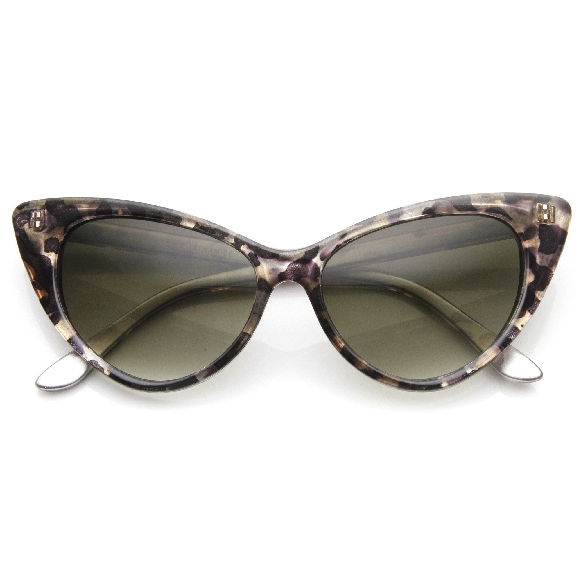 2ac6c1a9c7b3c Womens Retro Mod 1950 s Version Hot Tip Pointed Cat Eye Sunglasses 9145.  9145d