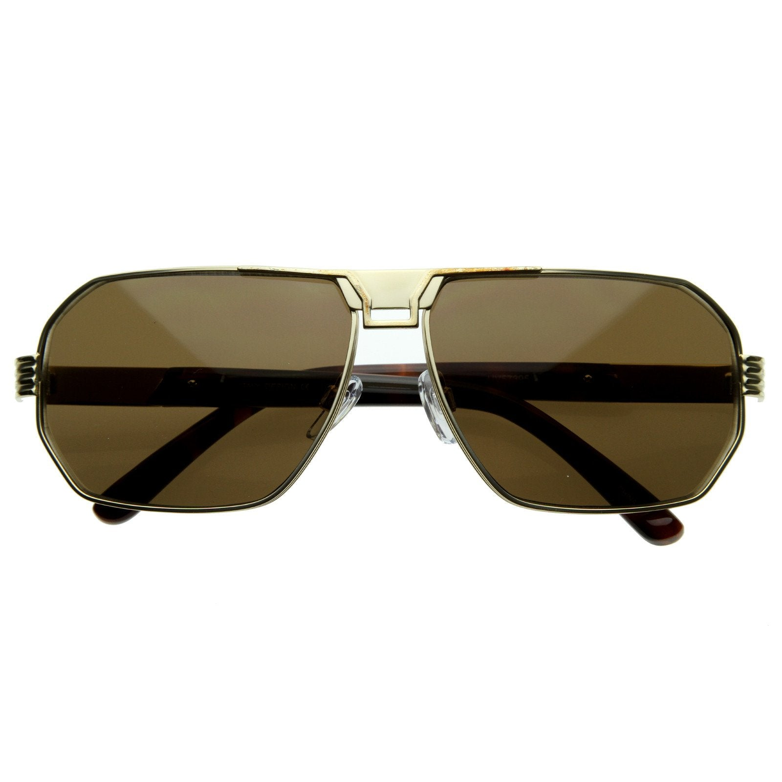 ddec01e180 Mens Optical Quality Premium Square Metal Aviator Sunglasses 8364