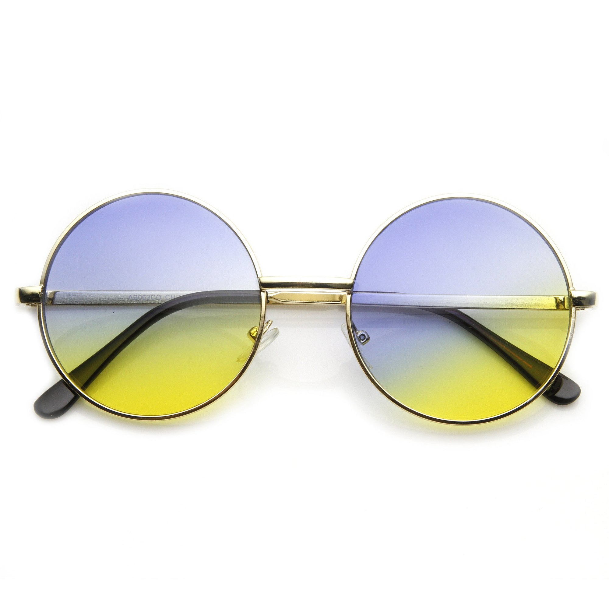 6bcc1c8fa5ada ... Retro Lennon Inspired Round Multi Color Rainbow Lens Sunglasses 9204 ·  Gold Blue Yellow