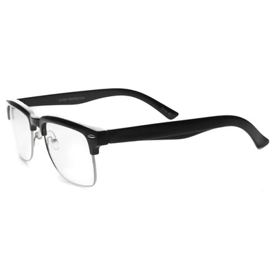 9c5871be89 Hipster Dapper Indie Half Frame Clear Lens Glasses - zeroUV