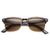 Indie Dapper Square Half Frame Horned Rim Sunglasses 9809