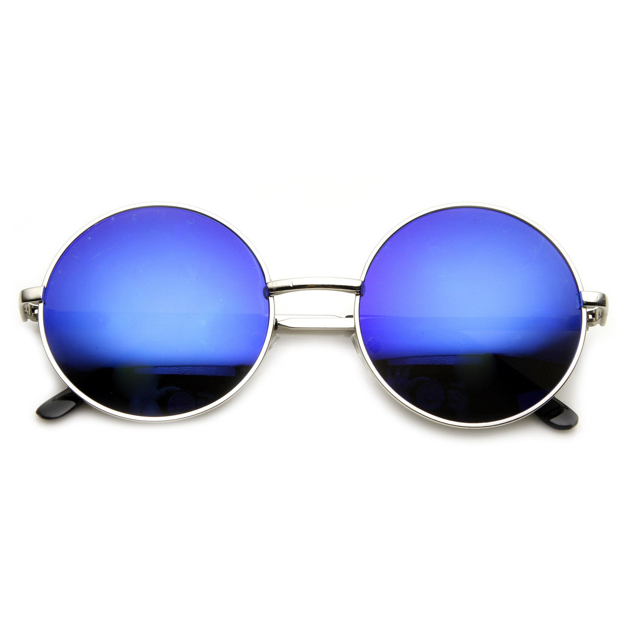 c25f1a756b9 Retro Flash Color Mirror Lens Round Metal Sunglasses 9203