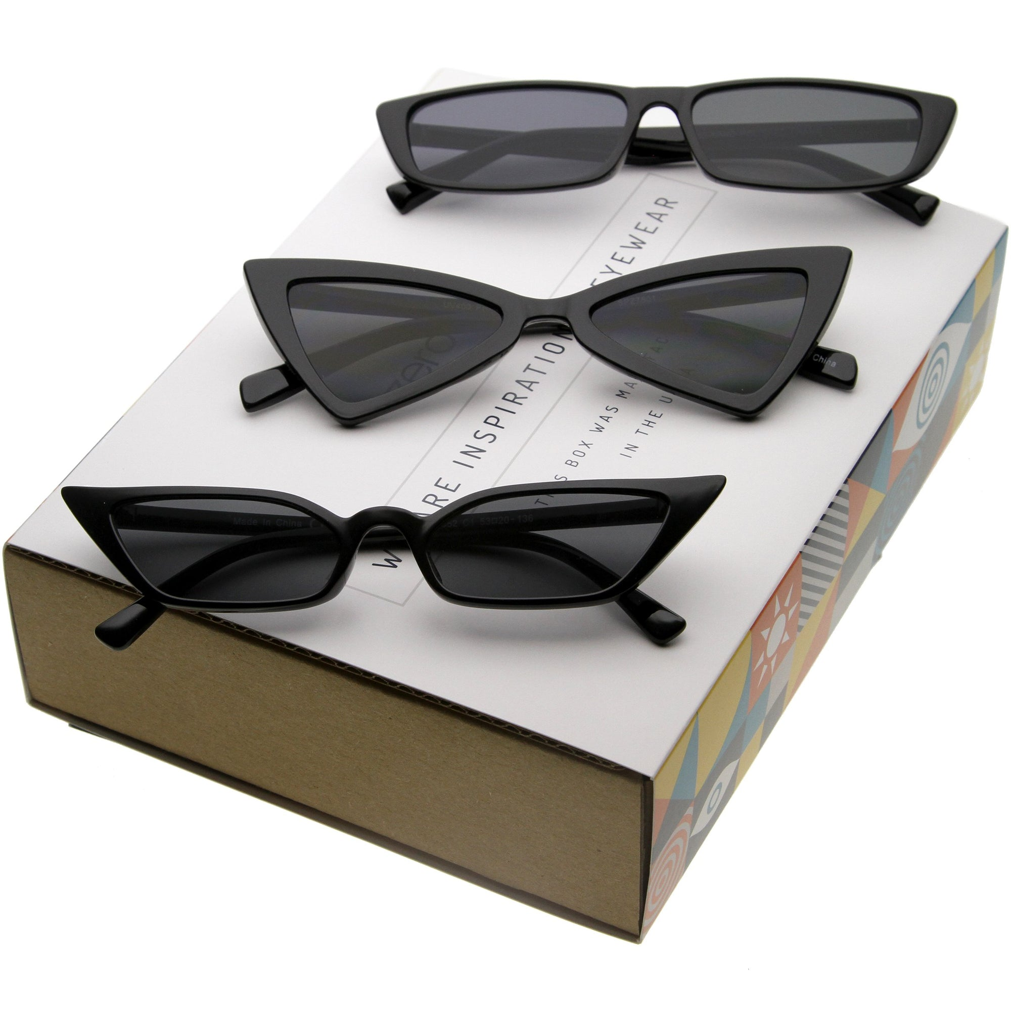 Women's Trending Small 1990's Cat Eye Sunglasses C570 [Promo Box]