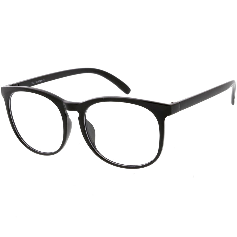 Classic Retro Dapper Round P3 Clear Lens Glasses C877