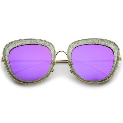 Smoke Gold Purple Mirror