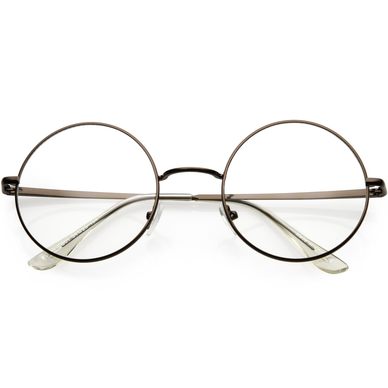 3575567457ca Vintage Classic Metal Round Clear Lens Glasses 50mm C854