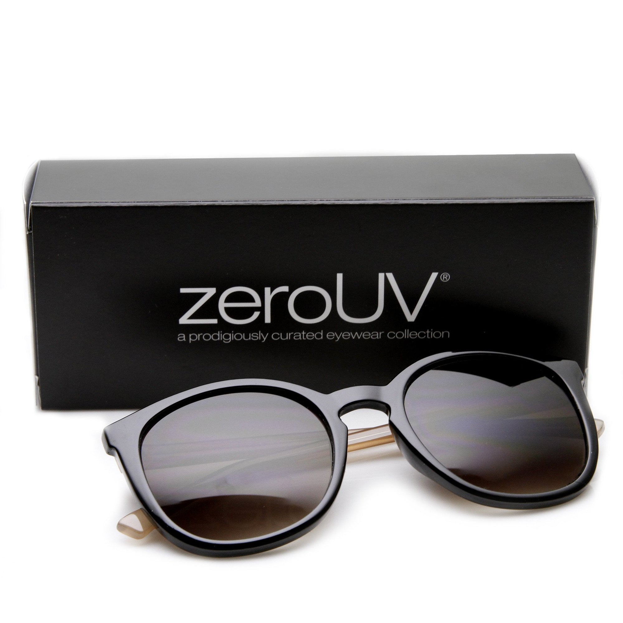 "Zerouv + Plus ""Scout"" Two Tone Pastel P3 Round Key Hole Sunglasses"
