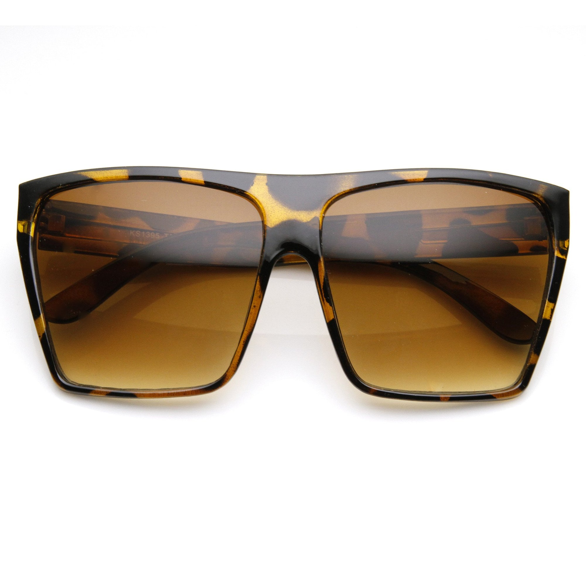 Oversize Square Retro Block Hipster Sunglasses 9259