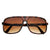 Mens Retro Disco Square Flat Top Aviator Sunglasses 8022