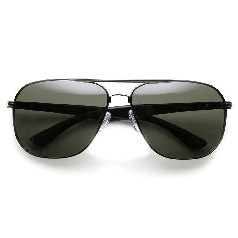 Mens Premium Large Sports Polarized Lens Aviator Sunglasses 9270