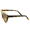 Trendy Womens Glam Rhinestone Studded Fashion Cat Eye Sunglasses 9279