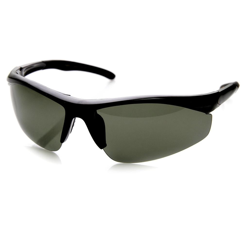 46b53938445 Mens Performance Half Sports Wrap Around Sunglasses - zeroUV