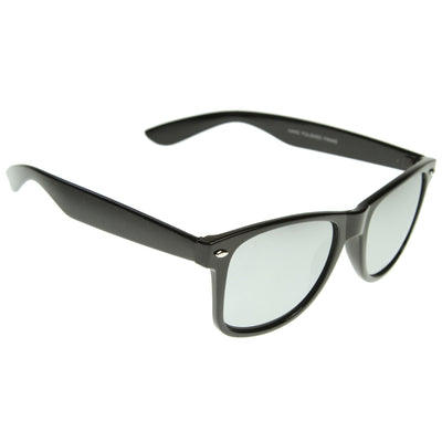 Classic Retro Horn Rimmed Mirrored Lens Sunglasses 8508