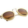 Vintage Steampunk Inspired Round Horned Rim Frame Sunglasses 8591