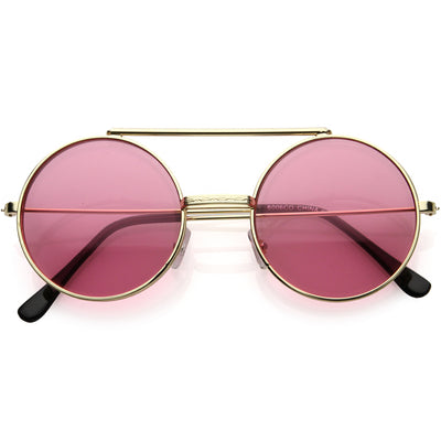 Steampunk Vintage Circle Round Flip Up Vintage Sunglasses 8793