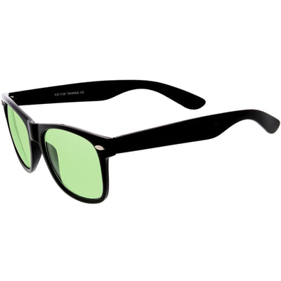 Limited Edition Color Tinted Lens Horned Rim Sunglasses 8803